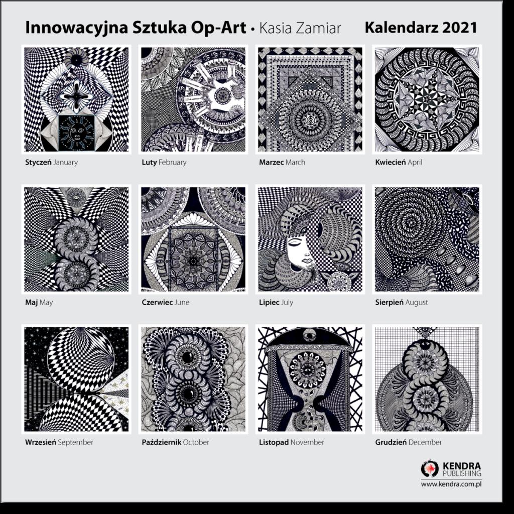 Innowacyjna Sztuka Op-Art - Kalendarz 2021
